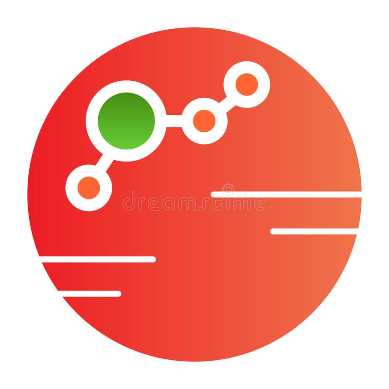 Kolonisierte flache Ikone des Planeten Kolonienfarbikonen in der modischen flachen Art Planetensteigungs-Artentwurf, bestimmt für vektor abbildung