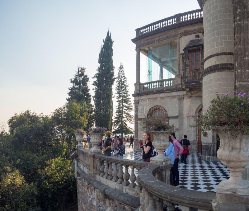 Kolonisty Chapultepec kasztel, widoki, wzgórze, park fotografia royalty free