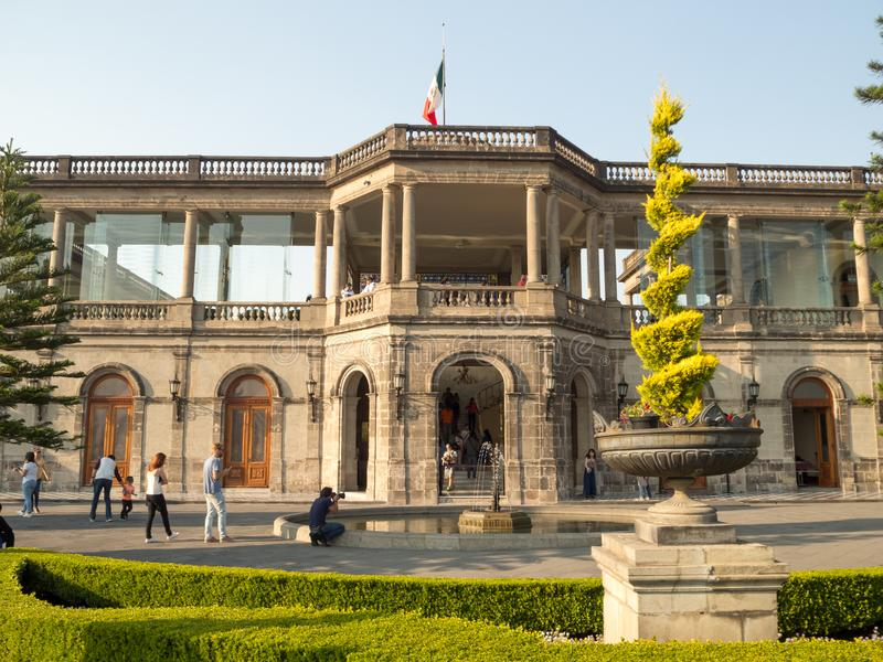Kolonisty Chapultepec kasztel, widoki, wzgórze, park zdjęcie stock