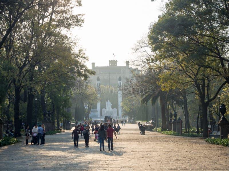 Kolonisty Chapultepec kasztel, widoki, wzgórze, park obrazy royalty free
