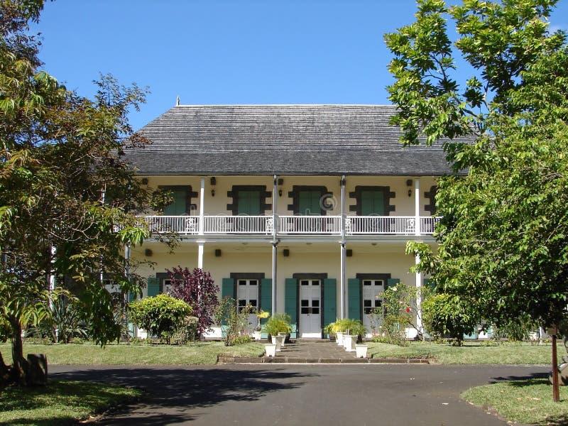 Kolonisty dom w Mauritius obrazy royalty free
