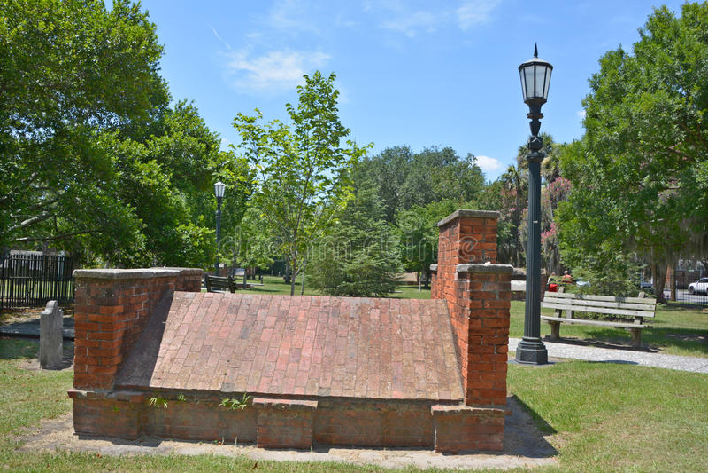 Kolonisty Parkowy cmentarz obrazy royalty free