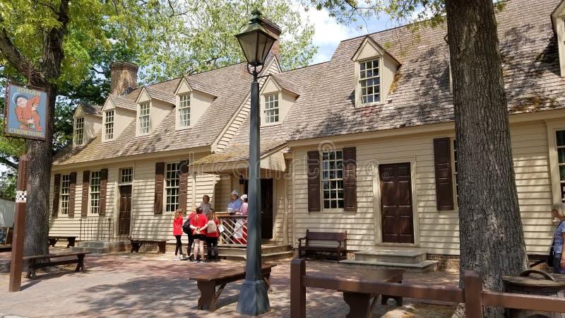 Kolonisty Williamsburg architektura obraz royalty free
