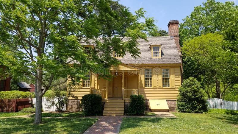 Kolonisty Williamsburg architektura obrazy royalty free