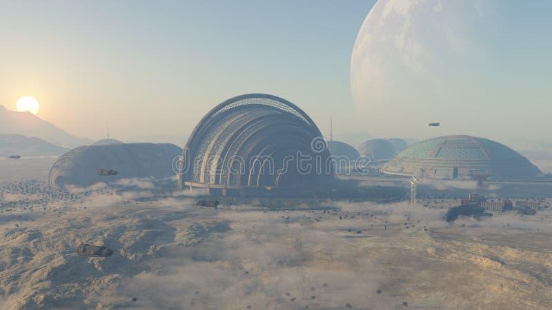 Kolonizacyjna planeta obrazy stock