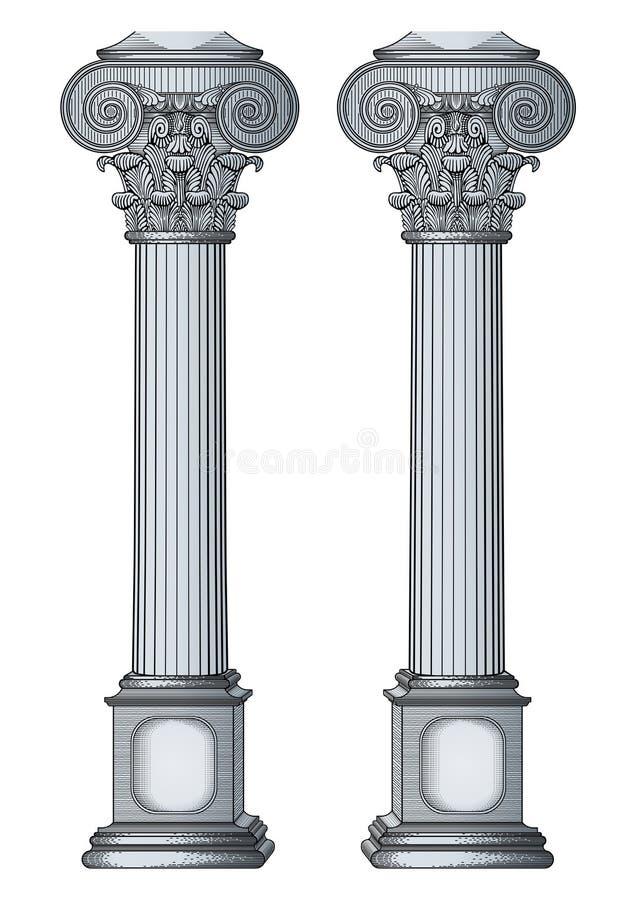 kolonn vektor illustrationer