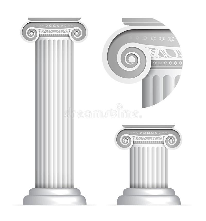 Kolonn för klassisk grek eller Roman Ionic royaltyfri illustrationer