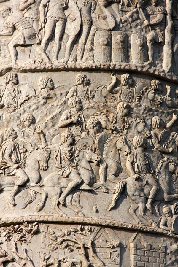 kolonn trajan rome s fotografering för bildbyråer