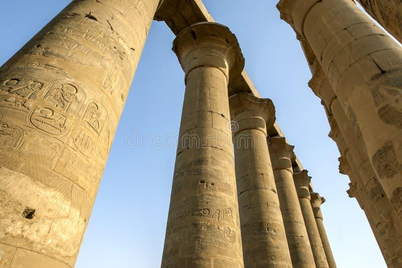 Kolonnaden av Amenhotep lll royaltyfri foto