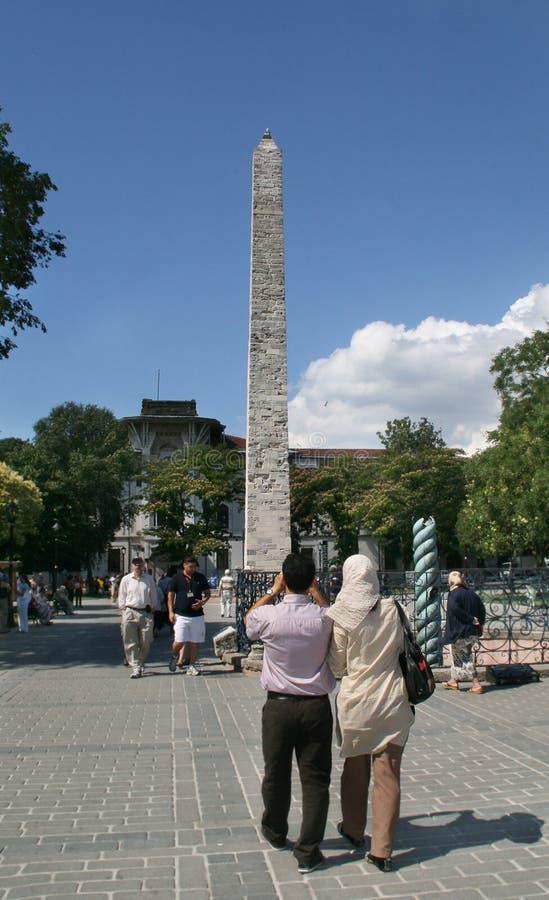 kolonnconstantine hippodrome istanbul royaltyfri foto