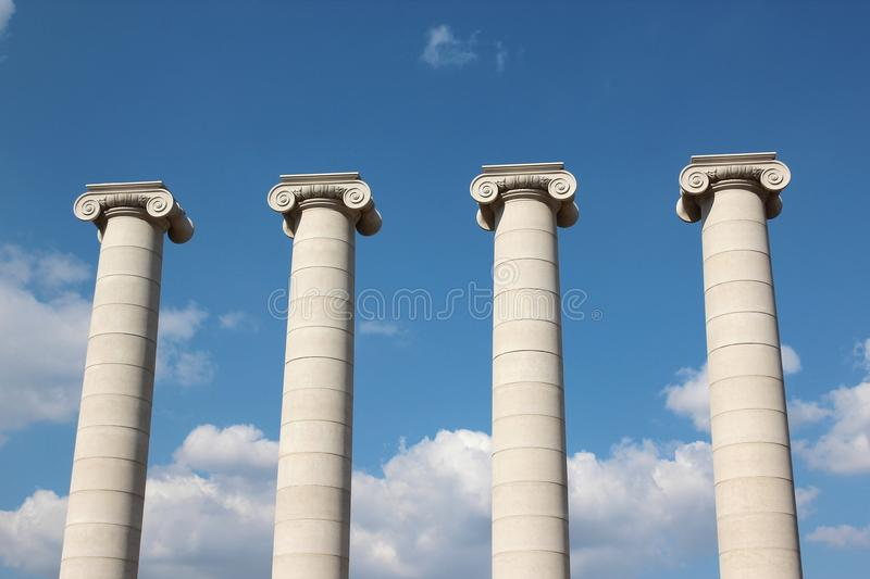 kolonner arkivbilder