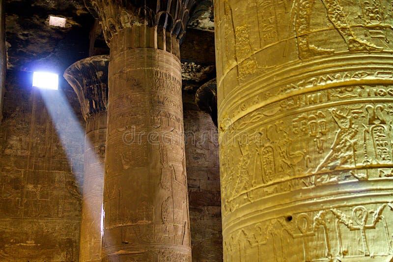 kolonner egypt royaltyfri fotografi