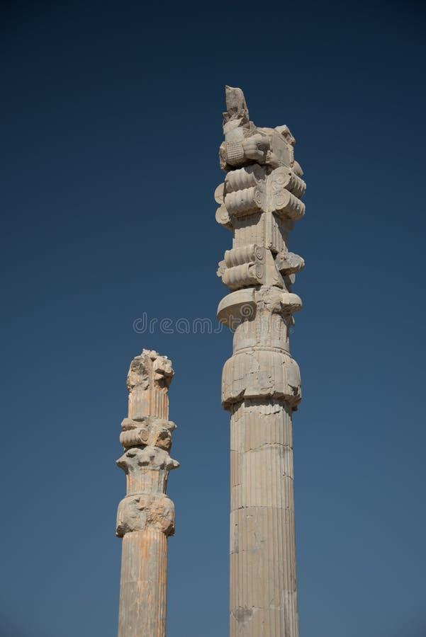 Kolonner i Persepolis royaltyfri fotografi