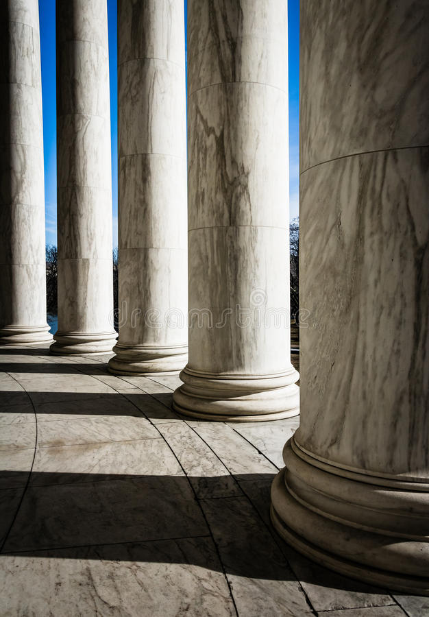 Kolonner på Thomas Jefferson Memorial, Washington, DC royaltyfri fotografi
