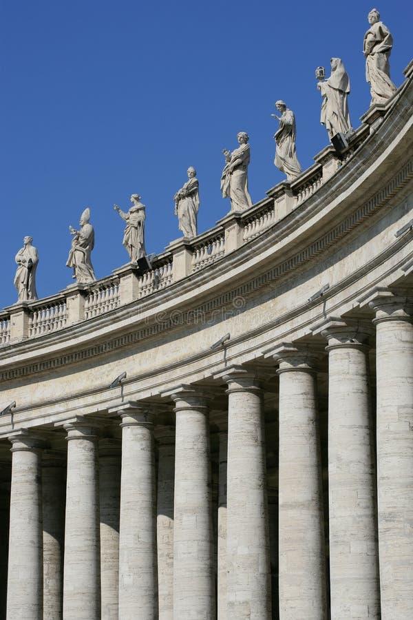 kolonner vatican arkivfoton