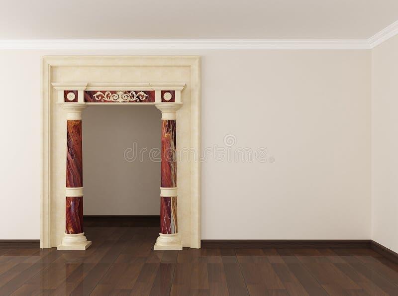 kolonningångslokal till royaltyfri illustrationer