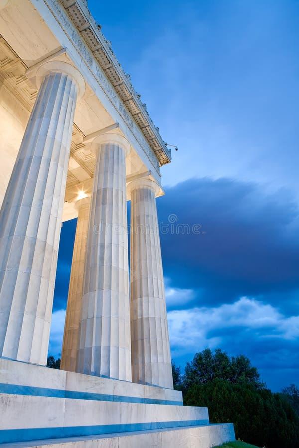 kolonnlincoln minnesmärke arkivfoto
