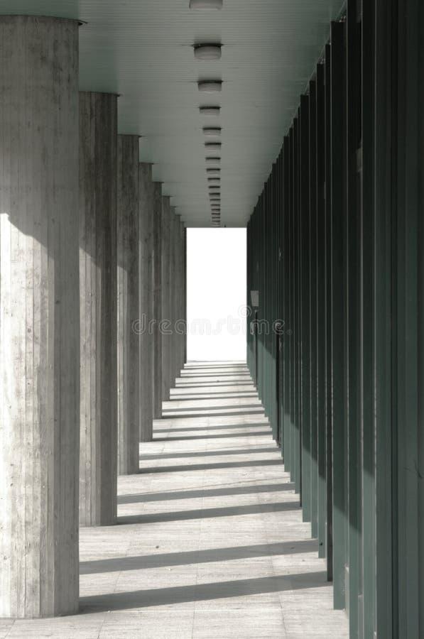 kolonnpassageway royaltyfri fotografi