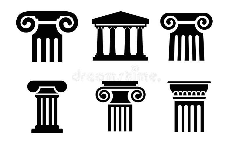 Kolonnsymboler vektor illustrationer