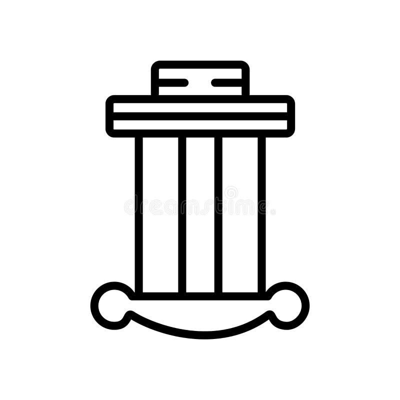 Kolonnsymbolsvektor som isoleras på vit bakgrund, kolonntecken, l stock illustrationer