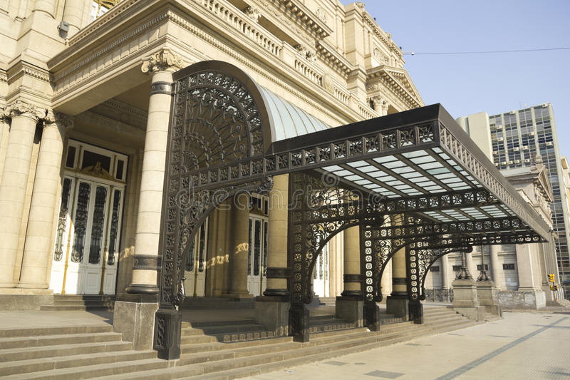 Kolonteater, Buenos Aires, Argentina. royaltyfria bilder