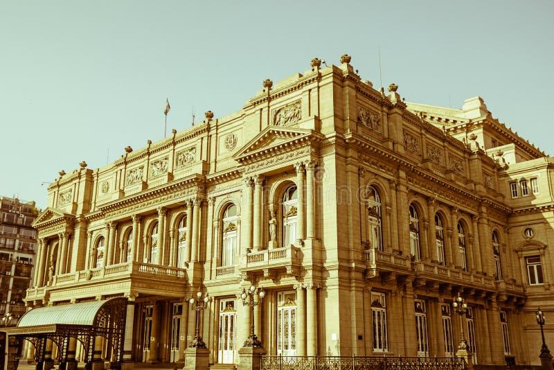 Kolonteater, Buenos Aires, Argentina Tappning och yesteryear e royaltyfria foton