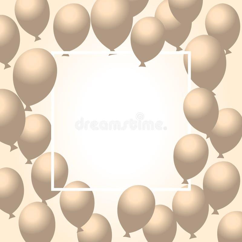 Kolorów balonów tła wektoru glansowana ilustracja ilustracja wektor