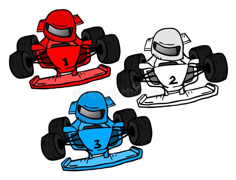 Kolorów bieżni samochody royalty ilustracja