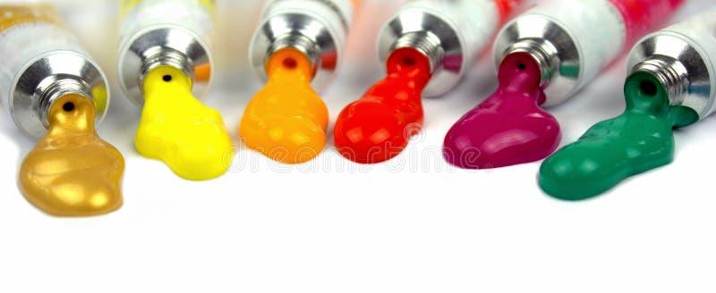 kolorów farby tubki obrazy royalty free