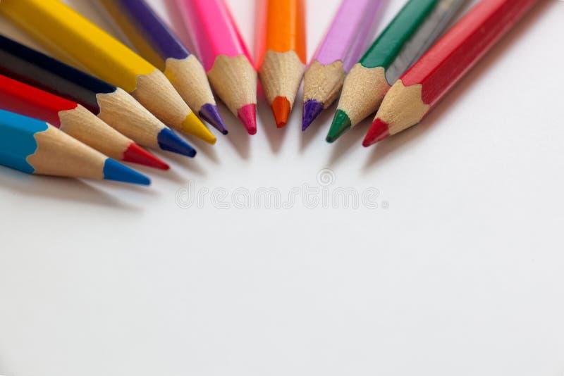 Kolorów ołówków fali okrąg obrazy royalty free
