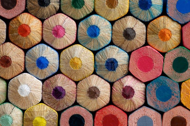 Kolorów ołówków tło obrazy royalty free
