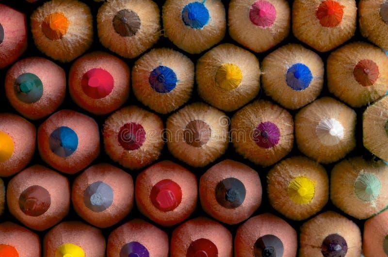 Kolorów ołówków tło zdjęcia royalty free