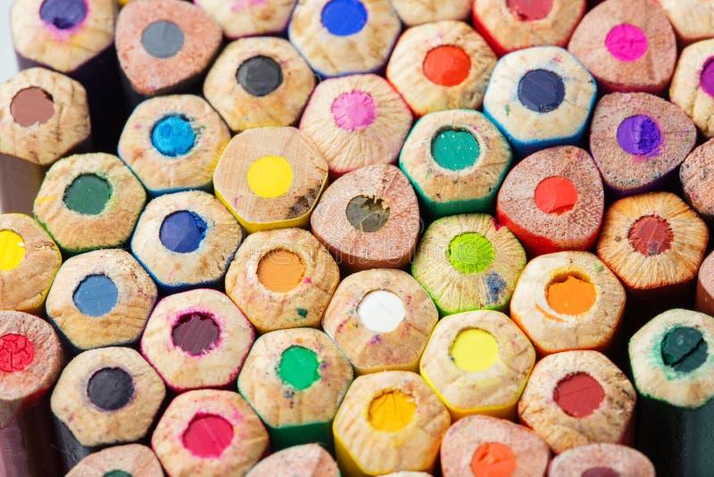 Download Kolorów Ołówków Zakończenia Fotografia Zdjęcie Stock - Obraz złożonej z kolekcja, kolor: 53786800