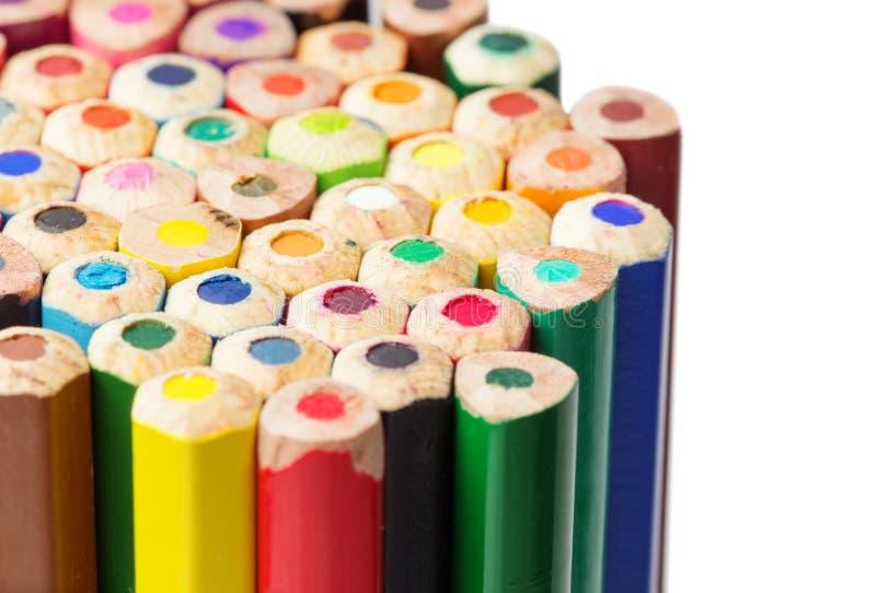 Download Kolorów Ołówków Zakończenia Fotografia Obraz Stock - Obraz złożonej z nikt, dzieciniec: 53787077