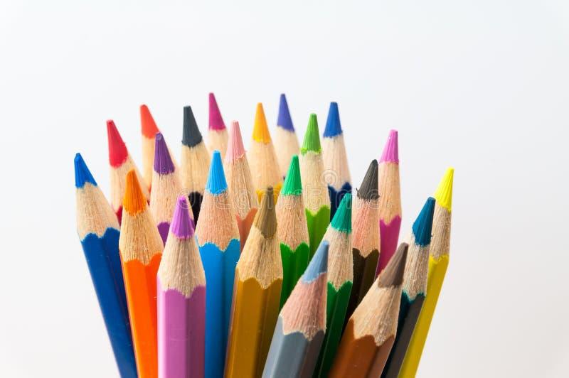 Kolorów ołówki obrazy stock