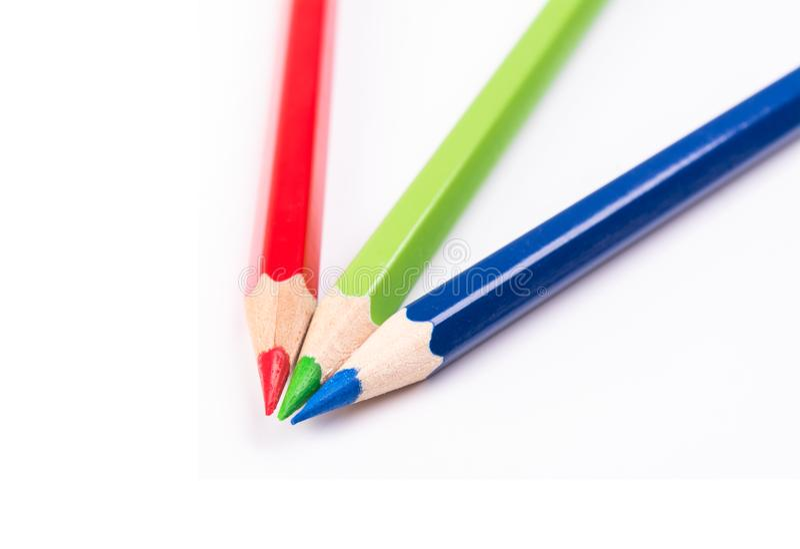 Kolorów ołówki RGB zdjęcia royalty free