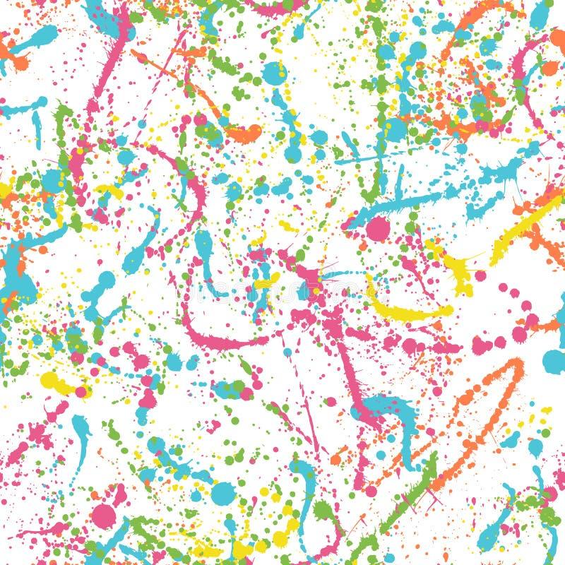 Kolorów splatters wzór royalty ilustracja
