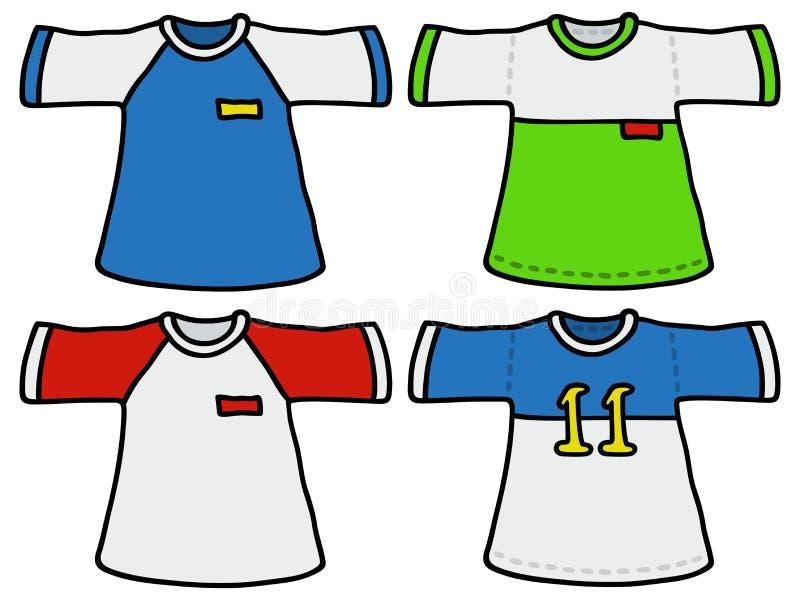 Download Kolorów sportów koszula ilustracja wektor. Ilustracja złożonej z liczący - 53784240