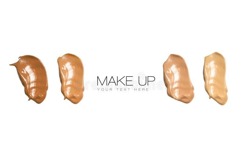 Kolorów Swatches podstawy Makeup fotografia stock