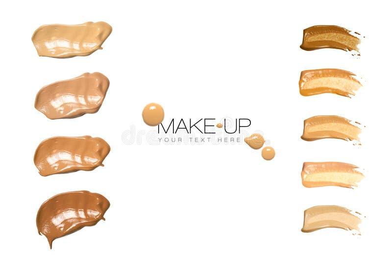 Kolorów Swatches podstawy Makeup obraz royalty free