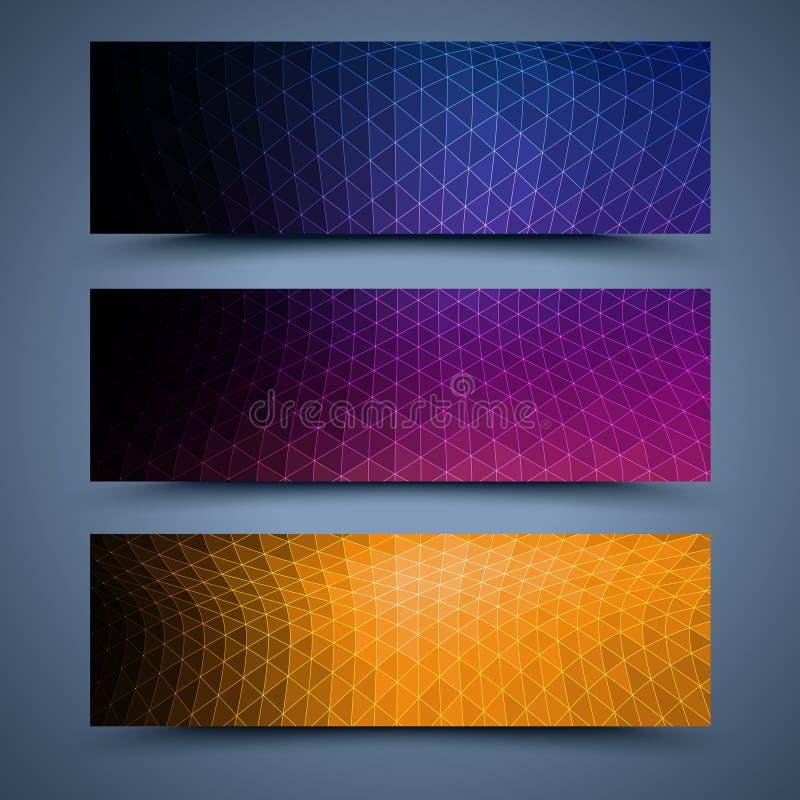 Kolorów sztandarów abstrakta tła royalty ilustracja