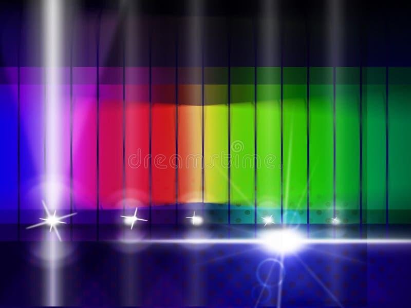 Kolor łuna I Chromatyczny Wskazujemy Kolorowego tło royalty ilustracja