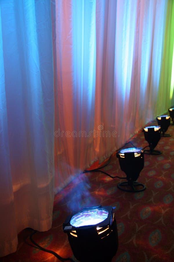 kolor światła reflektorów scena fotografia stock