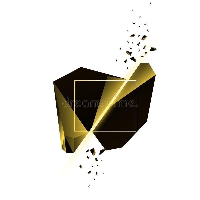 Kolor żółty Łamający kryształ ilustracja wektor