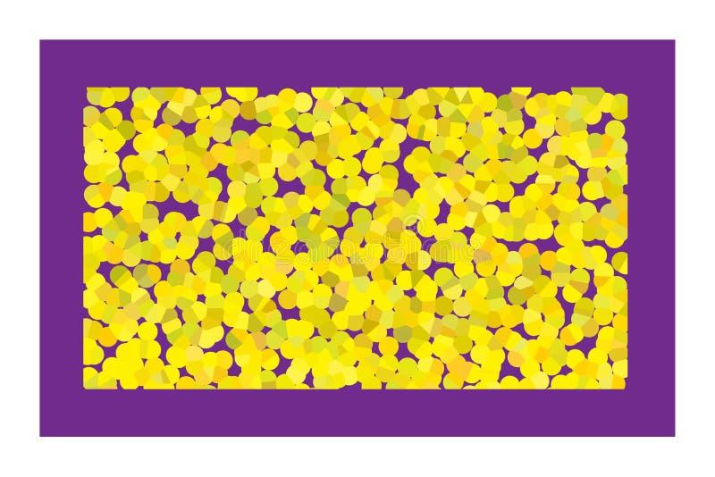 Kolor żółty bąble fotografia royalty free