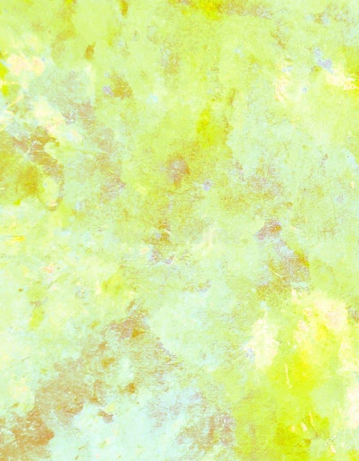 Kolor żółty i Beżowy Abstrakcjonistycznej sztuki obraz obraz royalty free