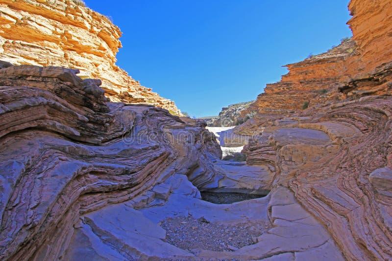 Kolor żółty i czerwienie machać skał warstwy, Duży chyłu park narodowy, usa fotografia royalty free