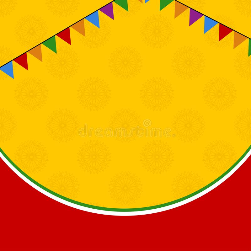 Kolor żółty i czerwony dekoracyjny sztandar ilustracja wektor