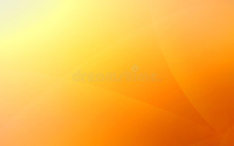 Kolor żółty i pomarańczowy niezwykły tło z subtelnymi promieniami światło fotografia stock