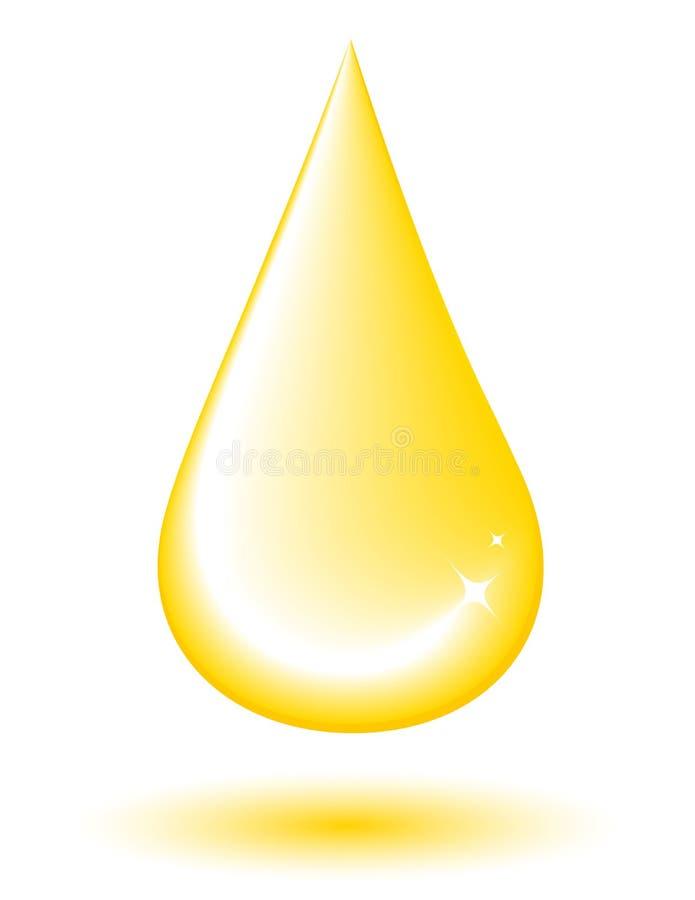 Kolor żółty kropla ilustracji